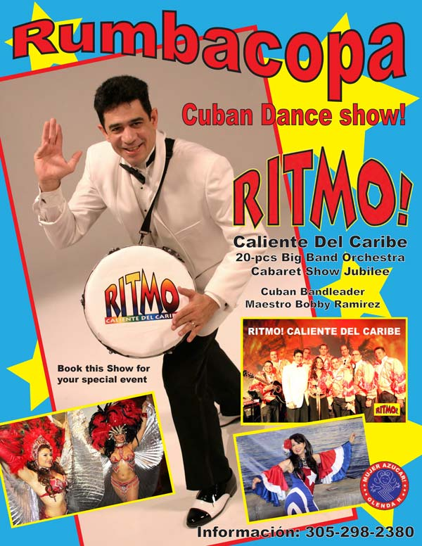 World Famous RUMBACOPA Social Club - Havana Nights authentic Cuban dance Show entertainment - Miami Florida orchestra and dancers